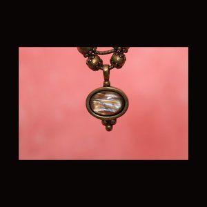 Vintage Chico's Earth Tone Adjustable Necklace